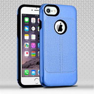 Airium Hybrid Protector Cover for Apple iPhone 6s Plus/6 Plus - Dark Blue Leather Texture / Black