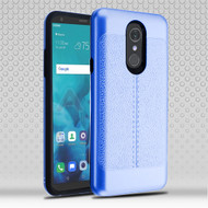 Airium Hybrid Protector Cover for Lg Stylo 4 - Dark Blue Leather Texture / Black