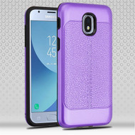Airium Hybrid Protector Cover for Samsung J337 (Galaxy J3 (2018)) - Purple Leather Texture / Black