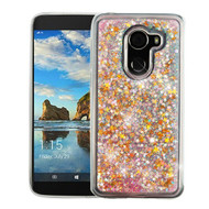 Airium Quicksand Glitter Hybrid Protector Cover for Alcatel Walters - Stars & Pink