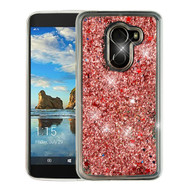 Airium Quicksand Glitter Hybrid Protector Cover for Alcatel Walters - Rose Gold