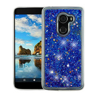 Airium Quicksand Glitter Hybrid Protector Cover for Alcatel Walters - Blue