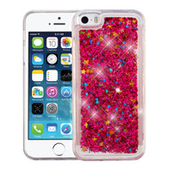 Airium Quicksand Glitter Hybrid Protector Cover for Apple iPhone 5s/5 - Hot Pink