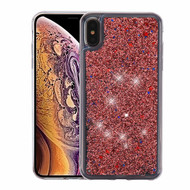 Airium Quicksand Glitter Hybrid Protector Cover for Apple iPhone XS Max - Rose Gold