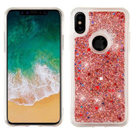 Airium Quicksand Glitter Hybrid Protector Cover for Apple iPhone XS/X - Rose Gold