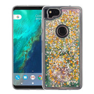 Airium Quicksand Glitter Hybrid Protector Cover for Google Pixel 2 - Stars & Pink