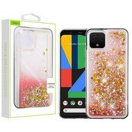 Airium Quicksand Glitter Hybrid Protector Cover for Google Pixel 4 - Stars & Pink