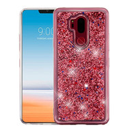 Airium Quicksand Glitter Hybrid Protector Cover for Lg G710 (G7 Thinq) - Rose Gold