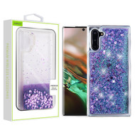 Airium Quicksand Glitter Hybrid Protector Cover for Samsung Galaxy Note 10 (6.3) - Hearts & Purple