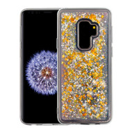 Airium Quicksand Glitter Hybrid Protector Cover for Samsung Galaxy S9 Plus - Stars & Pink