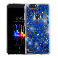 Airium Quicksand Glitter Hybrid Protector Cover for Zte Sequoia - Blue