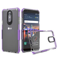 Airium Bumper Sturdy Candy Skin Cover for Lg Stylo 4 - Transparent Clear / Purple