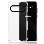 Airium Bumper Sturdy Candy Skin Cover for Samsung Galaxy S10 - Transparent Clear / White