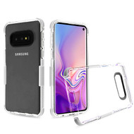 Airium Bumper Sturdy Candy Skin Cover for Samsung Galaxy S10E - Transparent Clear / White