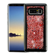 Airium Quicksand Glitter Hybrid Protector Cover for Samsung Galaxy Note 8 - Rose Gold Confetti (Black)