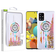 Airium Quicksand Glitter Hybrid Protector Cover for Samsung Galaxy A51 5G - Dreamcatcher & Gold Stars