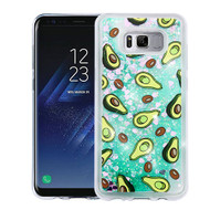 Airium Glitter Hybrid Protector Cover for Samsung Galaxy S8 Plus - Avocado & Green Quicksand (Hearts)