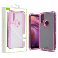Airium Hybrid Protector Cover for Alcatel 5032w (3v 2019) - Transparent Pink / Transparent Clear