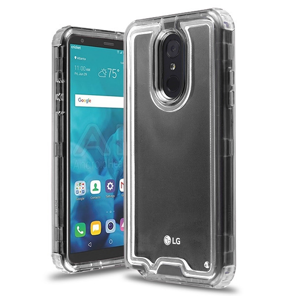 Airium Hybrid Protector Cover for Lg Stylo 4 Plus - Transparent Smoke / Transparent Clear
