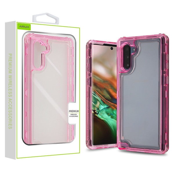 Airium Hybrid Protector Cover for Samsung Galaxy Note 10 (6.3) - Transparent Pink / Transparent Clear