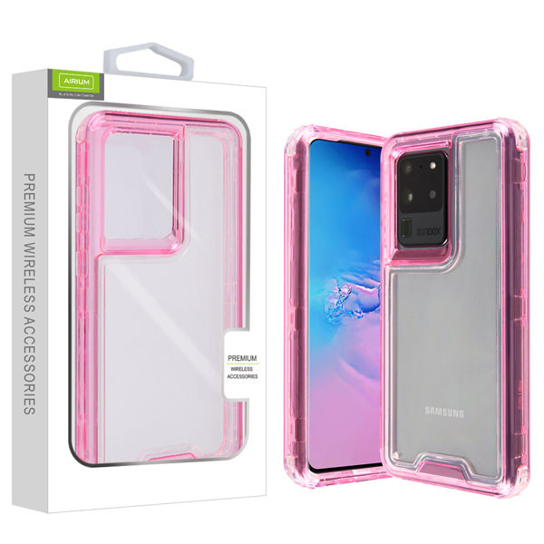 Airium Hybrid Protector Cover for Samsung Galaxy S20 Ultra (6.9) - Transparent Pink / Transparent Clear
