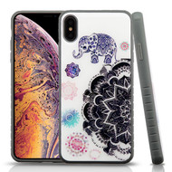 Airium Fusion Protector Cover for Apple iPhone XS Max - Lucky Elephant Mandala Gel / Iron Gray