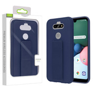 Airium Hybrid Case (with Foldable Stand) for Lg K31 (Aristo 5)/Fortune 3 - Ink Blue