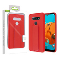 Airium Hybrid Case (with Foldable Stand) for Lg K51 - Red