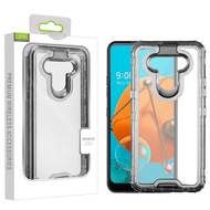Airium Hybrid Protector Cover for Lg K51 - Transparent Smoke / Transparent Clear