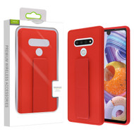Airium Hybrid Case (with Foldable Stand) for Lg Stylo 6 - Red