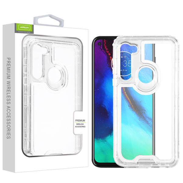 Airium Hybrid Protector Cover for Motorola Moto G Stylus - Transparent Clear / Transparent Clear