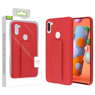 Airium Hybrid Case (with Foldable Stand) for Samsung Galaxy A11 - Red