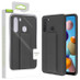 Airium Hybrid Case (with Foldable Stand) for Samsung Galaxy A21 - Black
