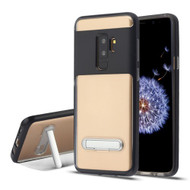 Airium Hybrid Protector Cover (with Magnetic Metal Stand) for Samsung Galaxy S9 Plus - Black / Transparent Clear