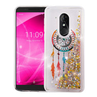 Airium Quicksand Glitter Hybrid Protector Cover for Alcatel Revvl 2 - Dreamcatcher & Gold Stars
