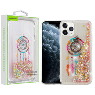 Airium Quicksand Glitter Hybrid Protector Cover for Apple iPhone 11 Pro - Dreamcatcher & Gold Stars