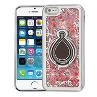 Airium Quicksand Glitter Hybrid Protector Cover for Apple iPhone 5s/5 - Electroplating Silver / Houseleek / Rose Gold Confetti