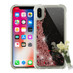 Airium Quicksand Glitter Hybrid Protector Cover for Apple iPhone XS/X - Transparent Clear / Transparent Clear Mirror finish Rose Gold Confetti