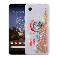 Airium Quicksand Glitter Hybrid Protector Cover for Google Pixel 3a - Dreamcatcher & Gold Stars