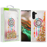 Airium Quicksand Glitter Hybrid Protector Cover for Samsung Galaxy Note 10 (6.3) - Dreamcatcher & Gold Stars