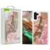 Airium Quicksand Glitter Hybrid Protector Cover for Samsung Galaxy Note 10 (6.3) - Eiffel Tower & Pink Hearts