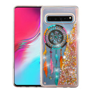 Airium Quicksand Glitter Hybrid Protector Cover for Samsung Galaxy S10 5G - Dreamcatcher & Gold Stars