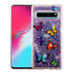 Airium Glitter Hybrid Protector Cover for Samsung Galaxy S10 5G - Butterfly Dancing & Purple Quicksand (Hearts)