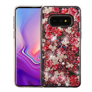 Airium Quicksand Glitter Hybrid Protector Cover for Samsung Galaxy S10E - European Rose & Rose Gold