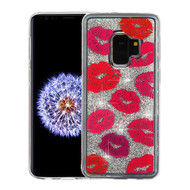 Airium Quicksand Glitter Hybrid Protector Cover for Samsung Galaxy S9 - Blissful Kisses & Silver