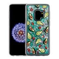 Airium Glitter Hybrid Protector Cover for Samsung Galaxy S9 - Avocado & Green Quicksand (Hearts)