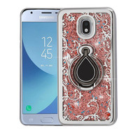 Airium Quicksand Glitter Hybrid Protector Cover for Samsung J337 (Galaxy J3 (2018)) - Electroplating Silver / Houseleek / Rose Gold Confetti