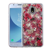 Airium Quicksand Glitter Hybrid Protector Cover for Samsung J337 (Galaxy J3 (2018)) - European Rose & Rose Gold