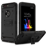Airium Kinetic Hybrid Protector Cover for Zte Z982 (Blade Z Max) - Black / Black