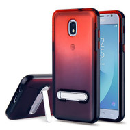 Airium and Black Hybrid Protector Cover (with Magnetic Metal Stand) for Samsung J337 (Galaxy J3 (2018)) - Black / Red